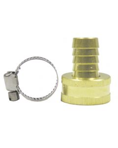 "Water Fill Garden Hose Adapter - Brass 1/2"" Fpt X 3/4"" Fgh"