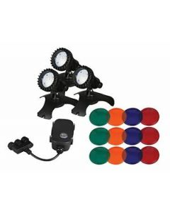 Pondmaster 3 Led Light Set W/ Transformer, Splitter & Photo Sensor