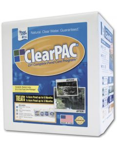1/4 Acre Clearpac Plus Muck Away- Treats 1/4 Acre For 6 Months, 1/2 Acre For 3 Mos